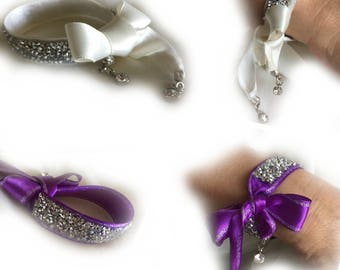 Handmade Bridal Crystal Bracelet with Crystal Charms Bracelet