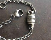 custom sterling silver urn bracelet