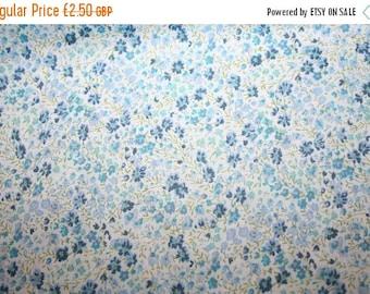 "SUMMER SALE Liberty Tana Lawn ""PHOEBE"" blue 30 x 30cm (12 x 12"")"