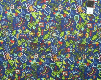 April Cornell PWAC026 Gypsy Dance Nostalgia Blue Fabric By The Yard