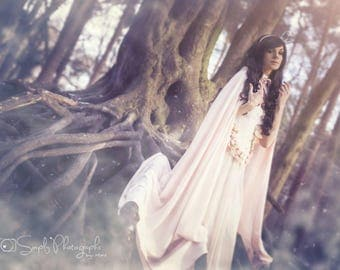 Lining for Cinderella wedding cape, alternative wedding cape, romantic wedding cloak, hooded cape, fairytale cape, fairy tale wedding custom