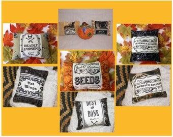 Autumn Gothic Halloween Ornamental Mini Pillow Your Choice of One