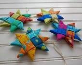 Set of 4 Folded Fabric Or...