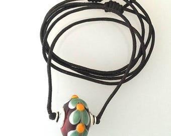 Summer Sale Leaf Theme Glass Lampwork Bead