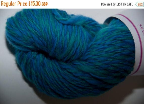 Christmas In July Merino Handspun Yarn in Shades of Blue and Green 88g/218yds
