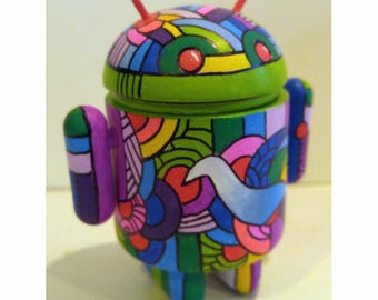Custom vinyl Android - Pop Art Toy by Howie Green