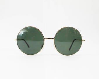 Vintage Men's Oversized Round Sunglasses
