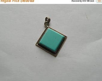 ON SALE Pretty Sterling Silver 925 turquoise Pendant