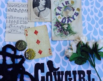 Bundle of Vintage Lovelies Paper Epherema Sewing #5 Collection