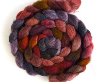 Fawn Shetland Roving (Top) - Handpainted Spinning or Felting Fiber, Motley Pour