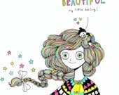 I Think Your Dreams Are Beautiful (small) - Signed Archival Print, by Ani Castillo.