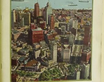 Vintage Mid Century City of Detroit Visitors Magazine