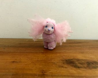 vintage 90s My Little Bunny Li'l Litters Pretty Poodle My Little Pony Flocked Dog Puppy Toy Hasbro
