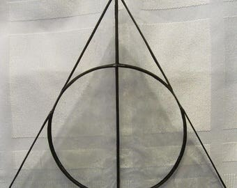 Deathly Hallows Symbol Stained Glass Suncatcher