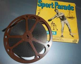 Vintage Fishing 16mm movie reel-Castle Films