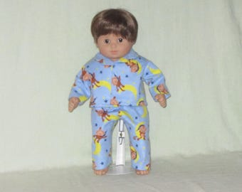 American Girl Bitty Baby Twin Boy Doll Pajamas Monkeys on the Moon