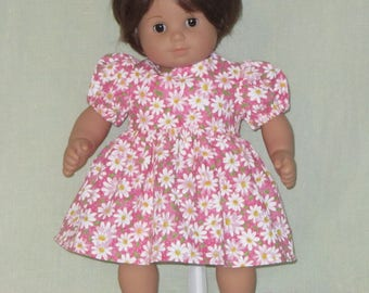 American Girl Bitty Baby Doll Dress Daisies on Pink