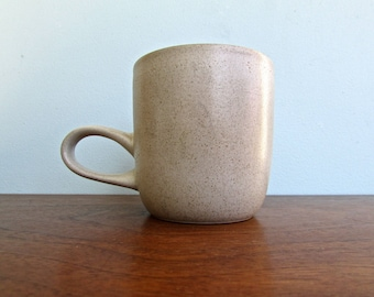 Edith Heath Pottery of California, Linen Big Eared Jumbo Coffee Mug, Vellum White, Heath Coupe Line, American Modern Design