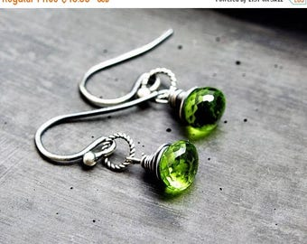 Peridot Earrings,  August Birthstone Earrings, Gemstone Drop Earrings,