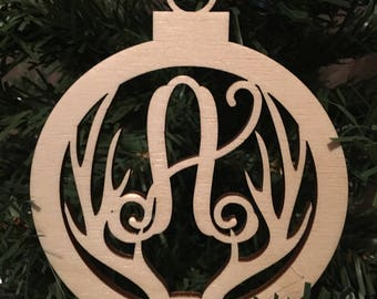 Personalized Antler Christmas Ornament DEADLINE DECEMBER 16 for Christmas Delivery