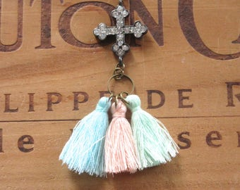 Tassels and Cross Necklace