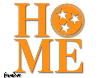 Home Tennessee Tri-Star TN Tristar SVG, EPS, dxf, png, jpg Digital cut file for Silhouette or Cricut