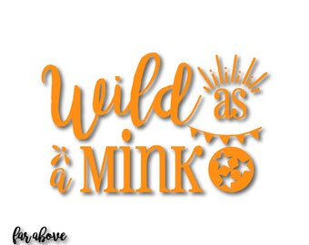 Rocky Top TN Wild as a Mink with Tristar Flourishes SVG, EPS, dxf, png, jpg digital cut file for Silhouette or Cricut Tennessee