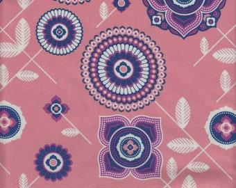 Free Spirit Fabrics Joel Dewberry Avalon Delphina in Orange - Half Yard