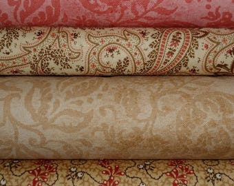 Emilie Rose Andover 4 Pack Cotton Quilt Fabrics-Yards crafting quilting sewing fabrics