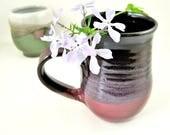 18 oz Purple mug, large handmade stoneware mug, purple mug, gift for her - In stock