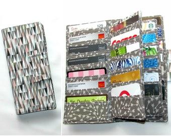 women's wallet 38 Business Card Organizer, Credit Card Organizer Wallet, 38 Slot Card Loyalty, Card Organizer Case, Scandi Peaks