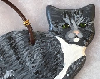 Gray Tabby Cat Ornament - Gray Cat Ornament - Cat Lover Ornament - Cat Lover Gift