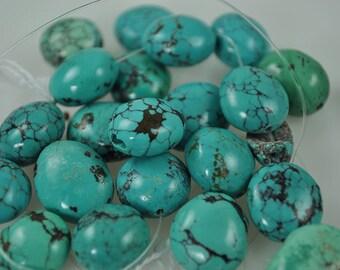 23 Small Chunk Turqoise 14mm beads