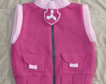 Paw patrol Skye inspired jacket vest