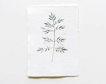mini botanical original art