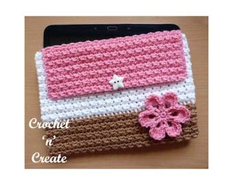 Crochet Tablet Cover Crochet Pattern (DOWNLOAD) CNC95