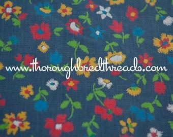 Fun Floral - Vintage Fabric Mod Flowers 60s Juvenile Floral Novelty