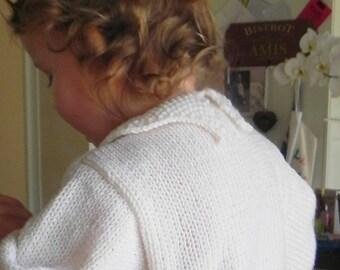 French Royal Toddler Cardigan Pattern PDF