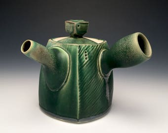 Side Handled Teapot - Dark Green