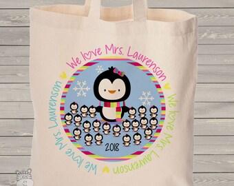 teacher tote bag - adorable teacher tote good for kindergarten, first grade, any grade - teacher christmas gift MSCL-036-B