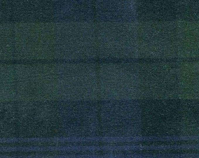 10 Yards BLACK WATCH TARTAN Waxed Oilcloth Cotton Canvas Duck Plaid Fabric For Apparel Upholstery Bags Outdoor Gear Green