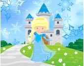 Princess Elsa The Frozen Princess Organic Knit Cotton Panels - Regular size and Doll size