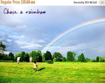 CIJ SALE Rainbow Print, Follow Your Dreams, Chase a Rainbow, Rainbow After the Storm, Inspirational Print, Child Bedroom Decor, Graduation G