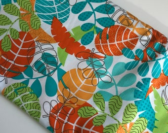 Jungle Leaves on White Monkeying Around - Benartex Kanvas cotton woven fabric by the yard