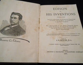 Edison and his Inventions + Electrical Dictionary, edited by J. B. McClure