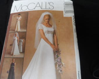 McCalls 8635 Misses Wedding Bridal Gown Pattern Size 8 112