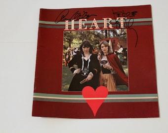 Signed Rare Heart Tour Program, 1977 Little Queen, Ltd Ed. 87/100, Autographed by Ann Nancy Wilson