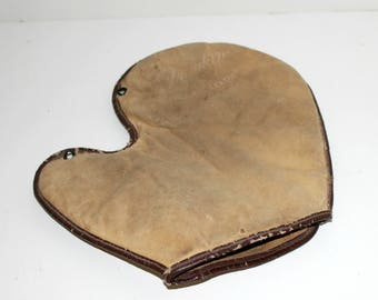 Franklin Baseball Mitt Glove, Vintage Leather Fingerless