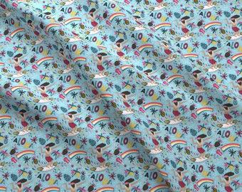Aloha! Fabric - Aloha By Alenkakarabanova - Summer Tropical Surfer Beach Decor Cotton Fabric By The Yard With Spoonflower