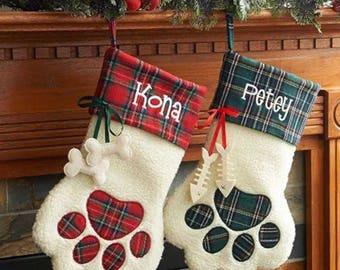 Pet Christmas stocking, cat Christmas stocking, dog Christmas stocking, family pet stocking, fur baby stocking , Personalized pet stocking